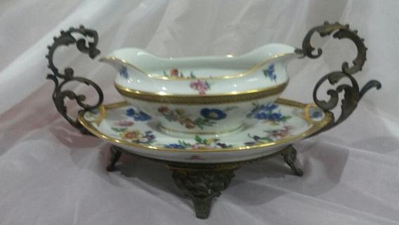Vjp Salsera Porcelana Limoges Con Brocería - Còd. 29924