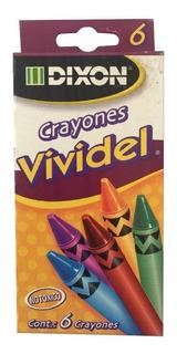 Paquete C/10 Crayones Vividel Con 6 Pzs C/u