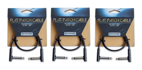Warwick Rbo Pack 3 Cable Interpedal Flat Plug 30 Cm