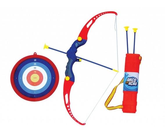 Brinquedo Arco E Flecha Vermelho Infantil Belfix