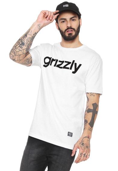 Camiseta Masculina Grizzly Branca Lowercase