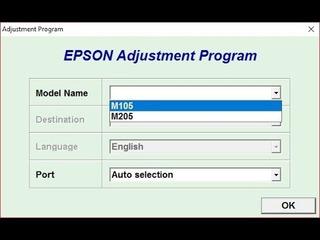 Reset Epson M 105