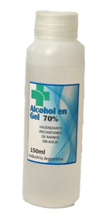 Alcohol En Gel 70% Sanitizante Antibacterial 150 Ml Botella