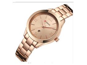 Relógio Curren 9007 Feminino Gold Com Caixinha