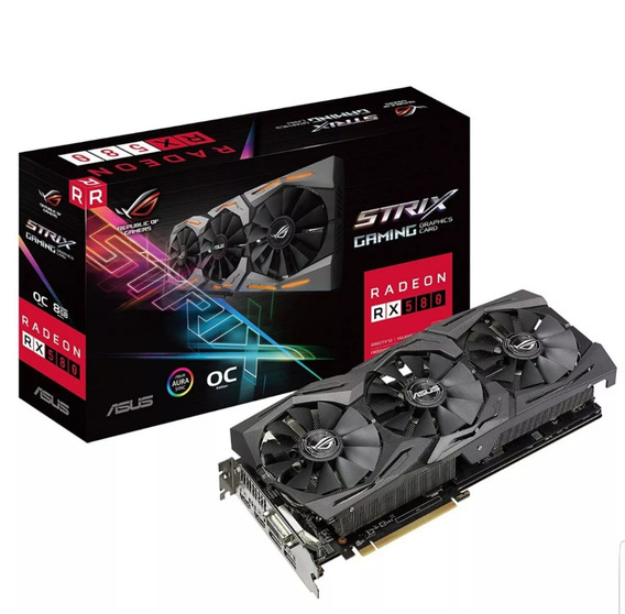Placa De Video Radeon 8gb Strix Rx 580
