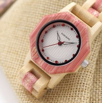 Relógio Feminino Bambu Analógico O10 Bobo Bird