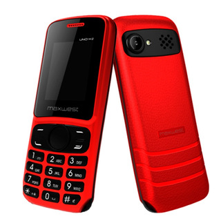 Celular Maxwest Uno M2, 1.8 Bluetooth 2g Sd - Rojo