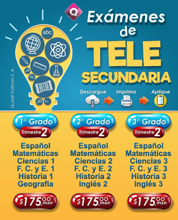 Exámenes De Telesecundaria 3° Grado / Trimestre 1-2-3