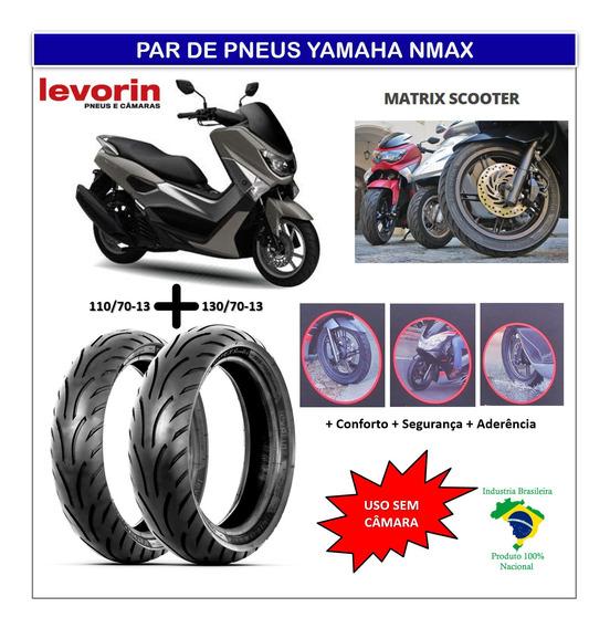 Par Pneu Yamaha Nmax 160 Dianteiro /traseiro S Camara Matrix