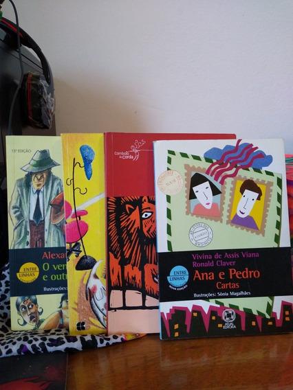 4 Livros Autores Diferentes Infanto Juvenil