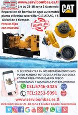 Reparación De Bomba De Agua Caterpillar C13 Planta Electric