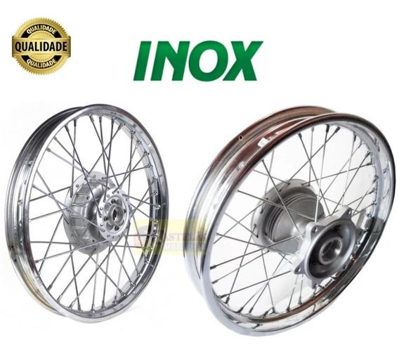 Roda Montada Bros 125-150-160 Traseira+dianteira Raios Inox