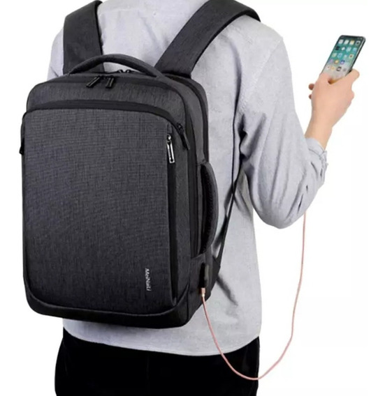 Mochila Antirrobo Escolar Carga Usb Impermeable Viaje Laptop