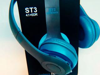 Auriculares Bluetooth Vincha Foxbox St-34 + Slot Tarjeta Sd+ Cable Tradicional