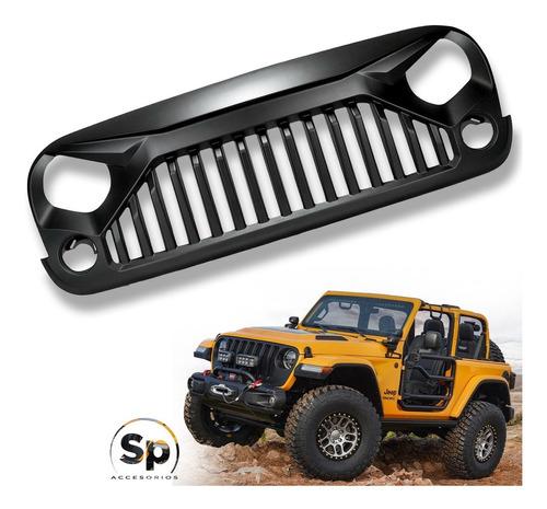 Imagen 1 de 8 de Parrilla Angry Enojada Jeep Wrangler 2007/2017 Jk Frente