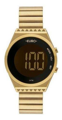 Imagem 1 de 11 de Relógio Euro Feminino Fashion Fit Dourado Eubjt016aa 4d