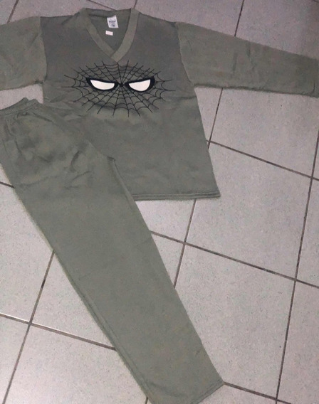 Pijamas Infantil Flanelado Homem Aranha 1