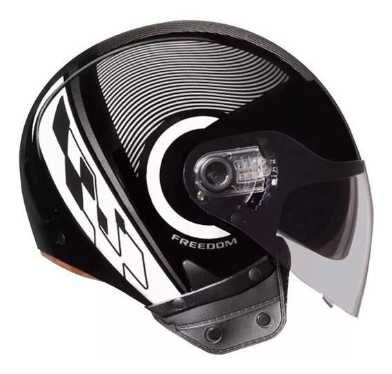 Capacete De Moto Ebf Freedom Circle Aberto C/ Oculos Interno