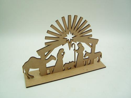 Imagen 1 de 3 de Nacimientos Decorativos Para Arbol Navideño Mdf 10 Piezas