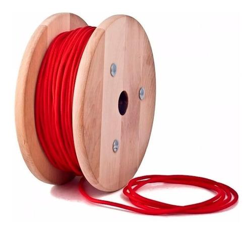 Cable Textil Tela Distintos Colores Normalizado X 10 Metros
