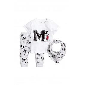 Conjunto 3 Peças, Calça, Bandada E Camiseta Mickey Menino