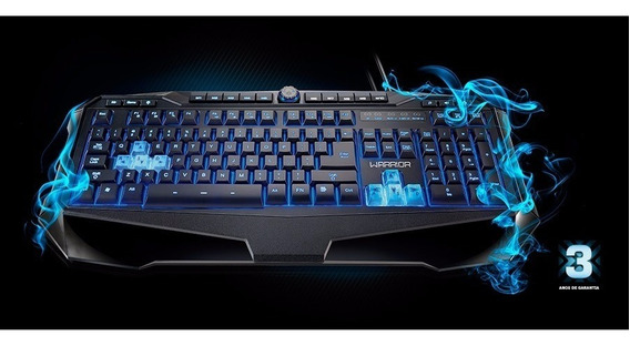 Teclado Led Gamer Multimidia Usb Iluminado Multilaser Tc167