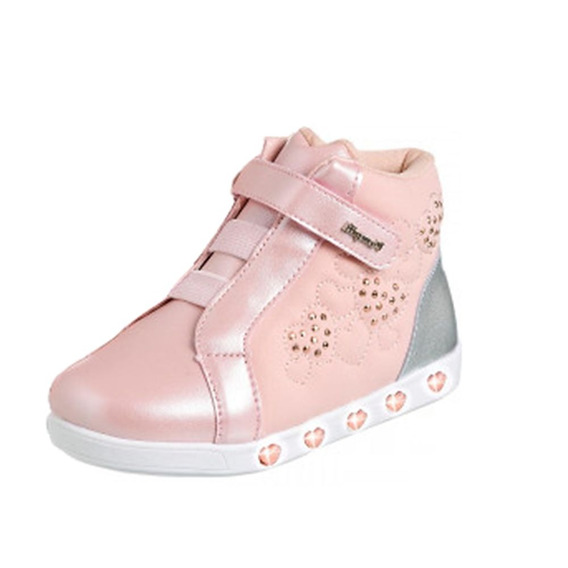 Tênis Pampili Sneaker Frete Livre Coração Rosa 010420