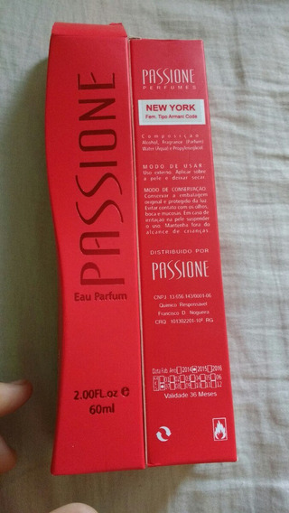 Perfume Passione Fem New York Tipo Armani Code