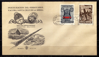 Numismza Argentina 1958 Mt 585-6 Sb 1er Dia ( S 143) Oferta