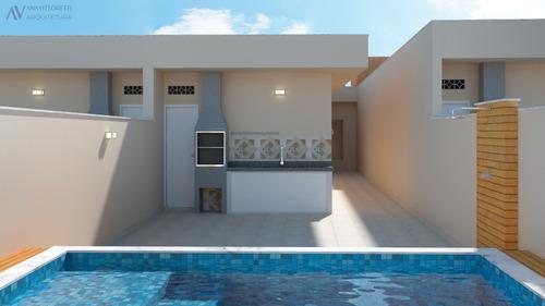 Imagem 1 de 6 de Casa Com Piscina,em Itanhaém De Frente Para O Mar.