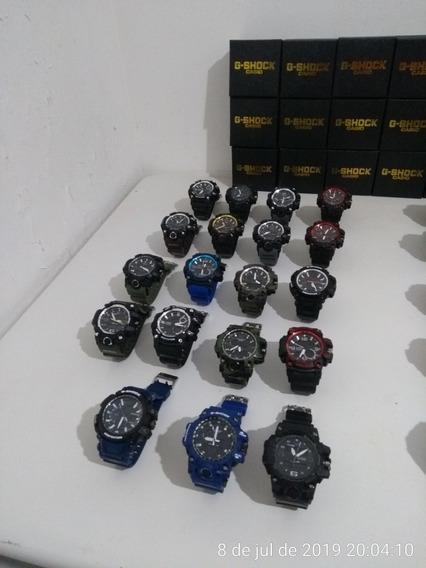 Kit Com 10 Relógios G-shock Mais As 10 Caixinhas Atacado