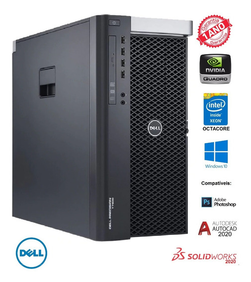 Dell Precision T7600 Intel Octacore Ssd 240gb Nvidia Quadro