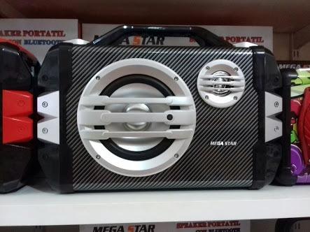 Caixa De Som Mega Star, Bluetooth, Microfone, Usb, Cartão M.