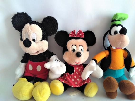Pelúcia Mickey Minnie Vintage Originais Disneylandia Pateta