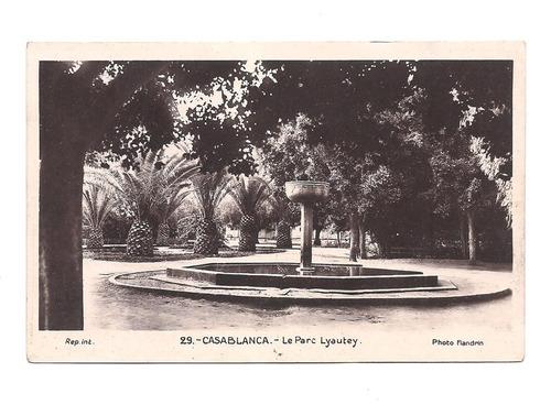 Antigua Postal Casablanca Marruecos Año 1939 Le Parc 531
