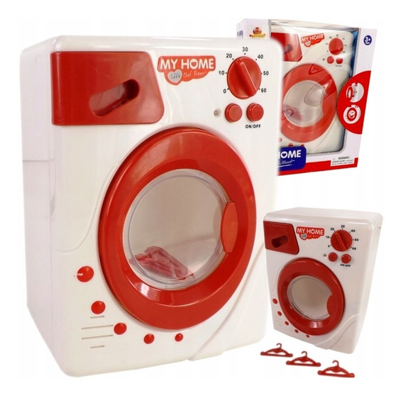 Maquina De Lavar Roupa Infantil Lavadora Luz E Som My Home