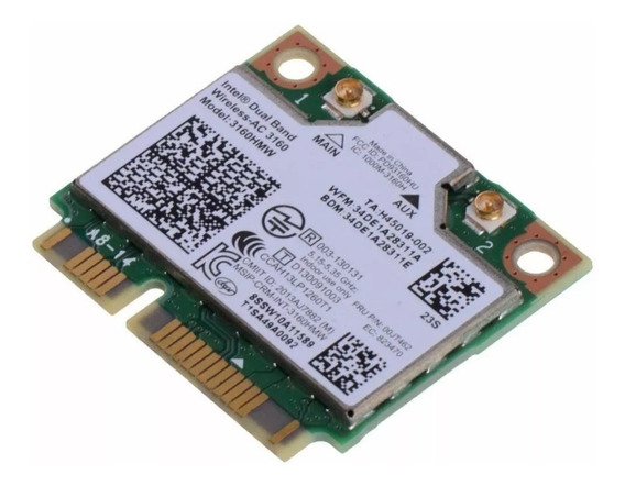Placa Wifi Intel 3160hmw Mini Pci-e Para Notebook