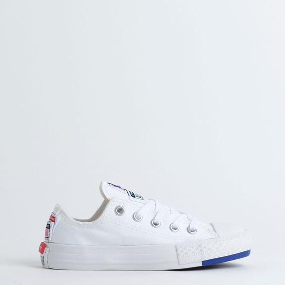 Tenis Infantil Converse Chuck Taylor Bco/azul/bco Ck0819000