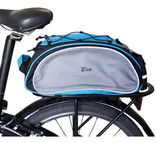 Bolso Bicicleta Trasero 4 Litros Impermeable Refractario Tiras Elasticas Travesia Correa Y Manija Transportable