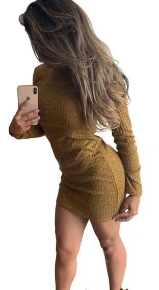 Vestidos Mujer Tejido Acalanado Sexy Corto Casual Casuales