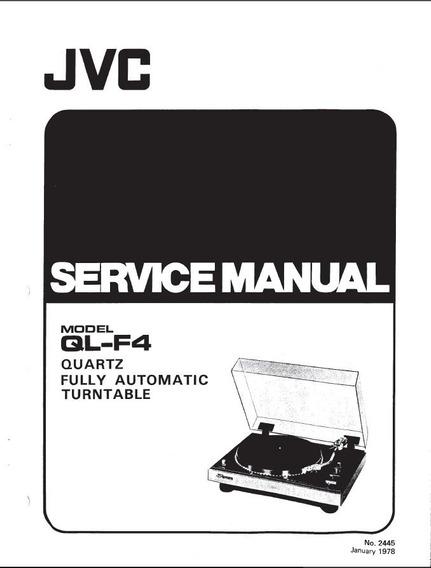 Manual De Serviço Jvc Toca Disco Model Ql-f4 Gradiente Dd100
