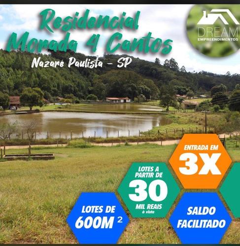 Imagem 1 de 2 de Terreno Com Excelente Topografia, Em Nazare Paulista
