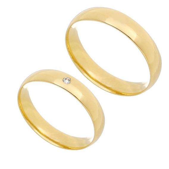 Par Aliança Casamento Noivado Ouro Maciço 18k 10gramas