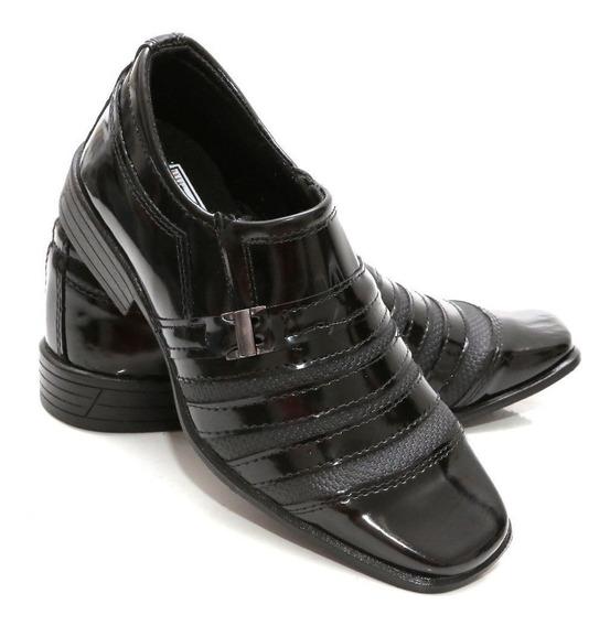 Sapato Social Infantil Verniz Couro Ecológico