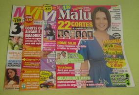 Lote 4 Revistas Malu-viva - Mais Feliz - Frete Grátis-cód.54