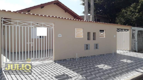 Entrada R$ 31.800,00 Mil + Saldo Super Facilitado. Casa Com 2 Dormitórios À Venda, 60 M² Por R$ 165.000 - Jardim Leonor - Mongaguá/sp - Ca3618