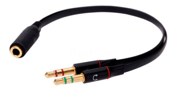 Adaptador P3 Y Divisor Fone E Microfone P2 3,5 Mm