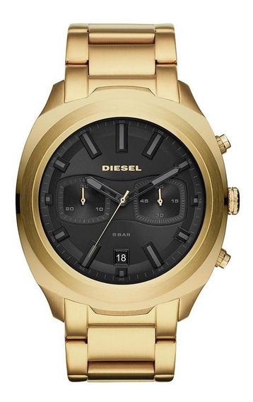 Relógio Diesel Masculino Black And Gold Dourado Dz4492/1dn