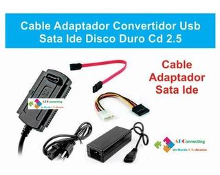 Kit Cable Adaptador Convertidor Usb Sata Ide Disco Duro Cd