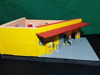 Diorama Posto Shell 3 Miniaturas 1/43 A 1/32